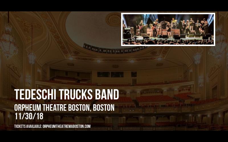 Tedeschi Trucks Band at Orpheum Theatre Boston
