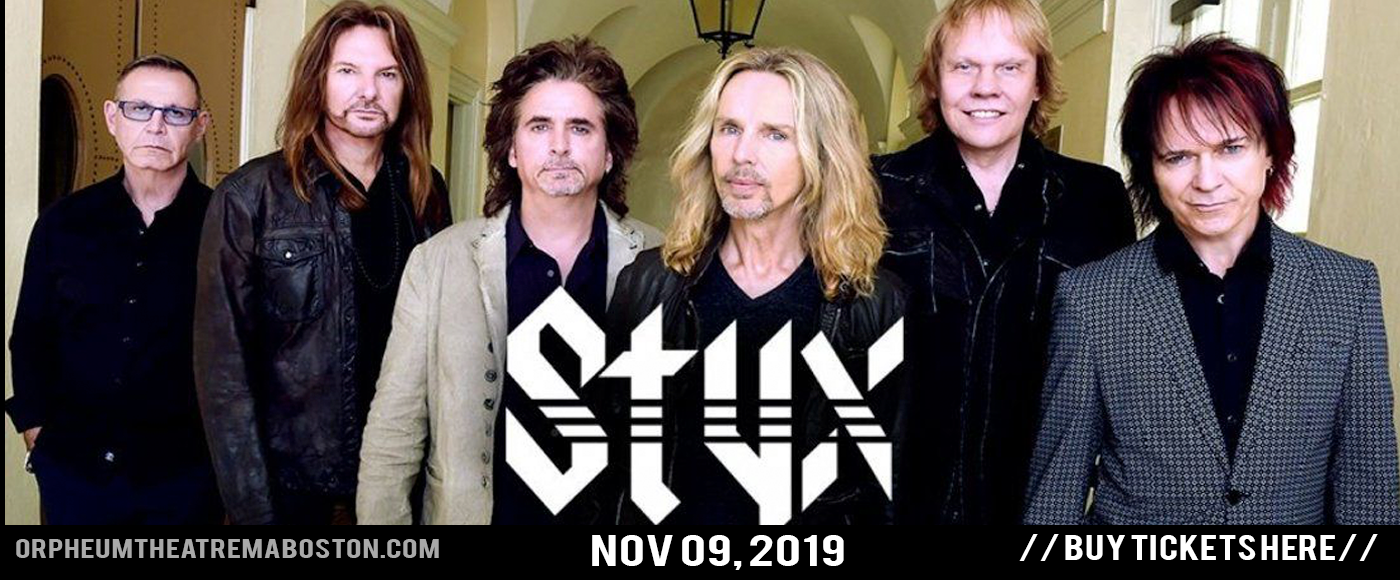 Styx at Orpheum Theatre Boston