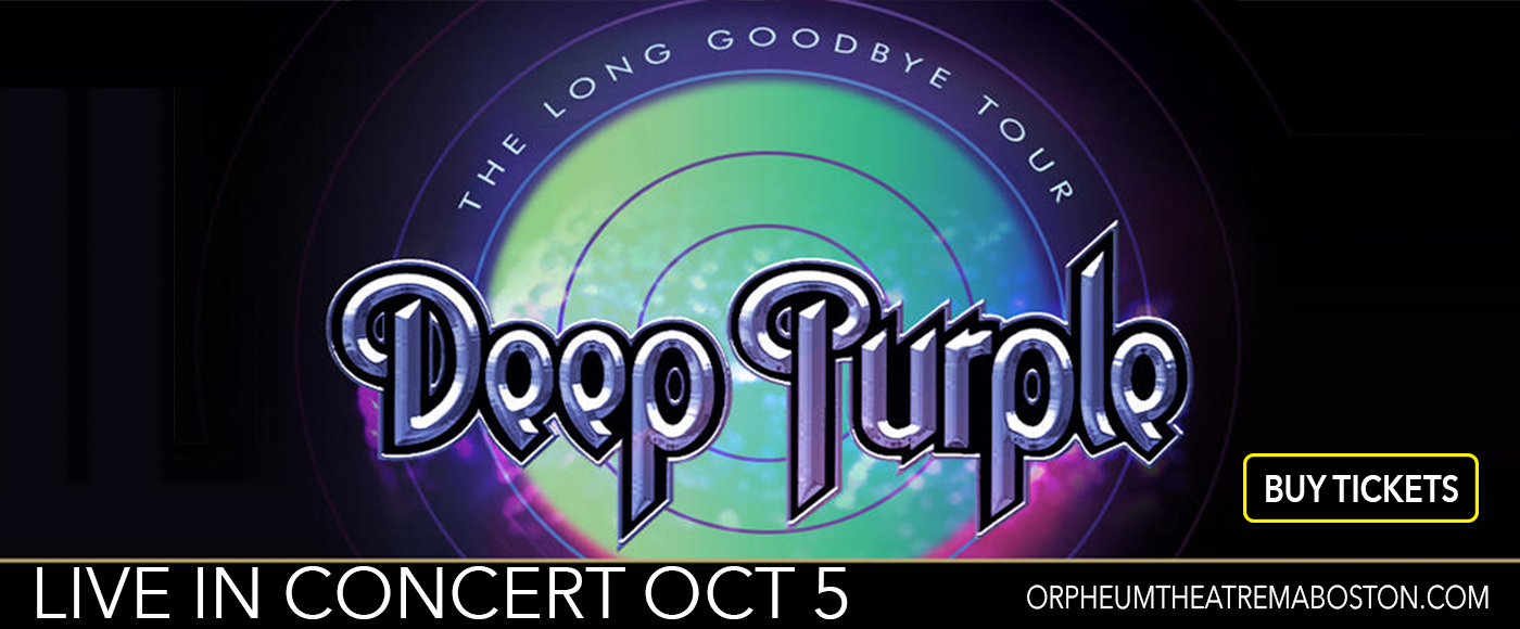 Deep Purple at Orpheum Theatre Boston
