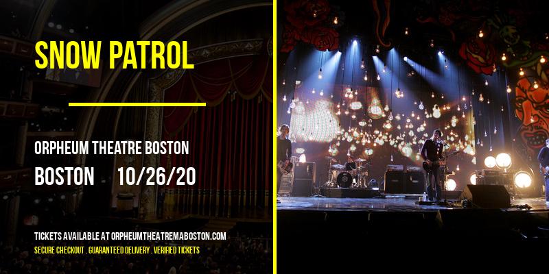 Snow Patrol at Orpheum Theatre Boston