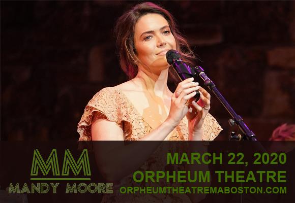 Mandy Moore [POSTPONED] at Orpheum Theatre Boston