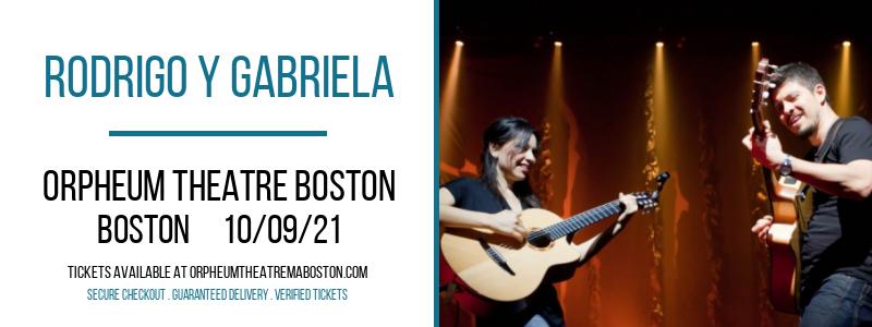 Rodrigo Y Gabriela at Orpheum Theatre Boston