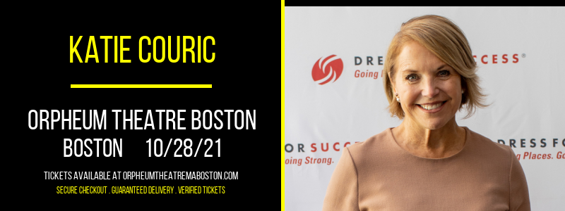 Katie Couric at Orpheum Theatre Boston