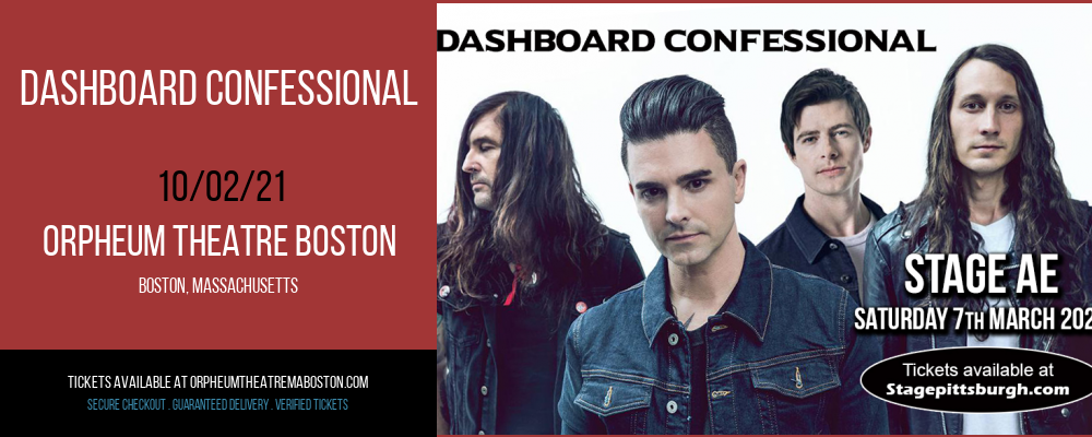 Dashboard Confessional [CANCELLED] at Orpheum Theatre Boston