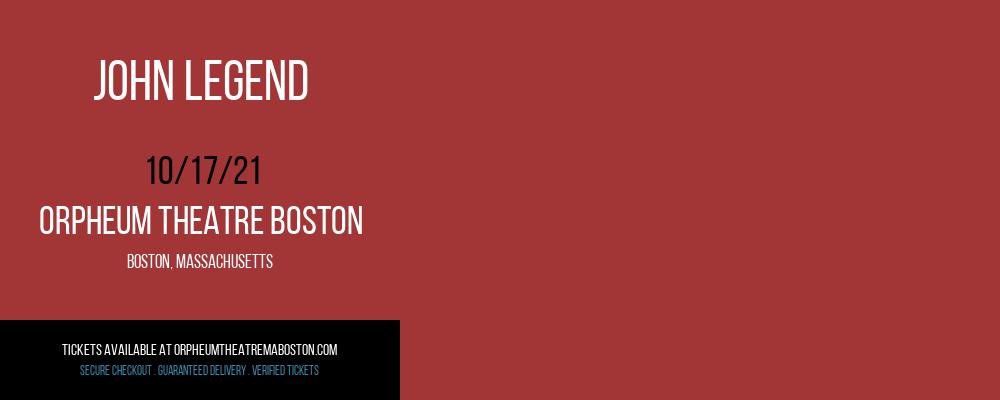 John Legend at Orpheum Theatre Boston