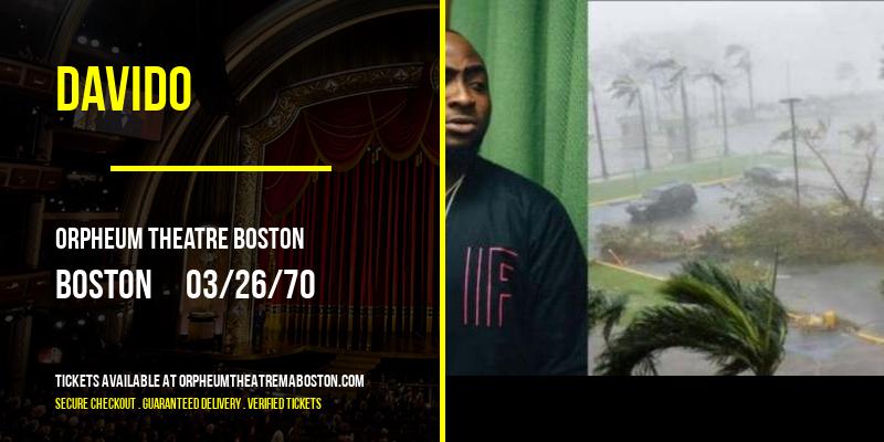Davido [POSTPONED] at Orpheum Theatre Boston