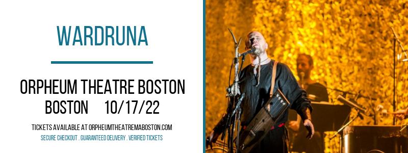 Wardruna at Orpheum Theatre Boston