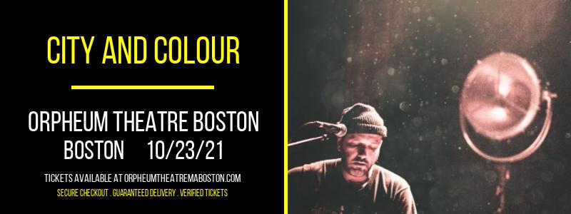 City and Colour at Orpheum Theatre Boston